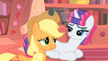 Rarity and Applejack understanding smile S1E08.png