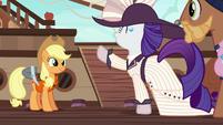 Rarity meets Applejack at the docks S6E22