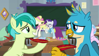Sandbar giving Gallus another quill S8E1