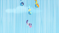 Wonderbolts nearing Rarity during rescue S1E16.png