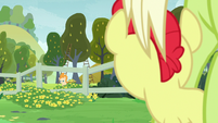 Young Bright Mac looking at Pear Butter S7E13