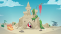 Abandoned sand castle guarded by a crab EGDS14.png