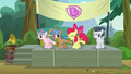 Apple Bloom and campers line-dancing on stage S7E21.png
