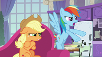 Applejack and Rainbow Dash frustrated S8E9