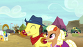 Appleloosa ponies enjoying caramel apples S5E6.png