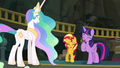 Celestia, Sunset, and Twilight laughing EGFF.png