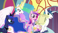 Celestia and family reading letter S8 opening