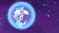 Celestia creates another barrier around herself and Starlight S7E10