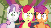 Cutie Mark Crusaders shocked S2E17