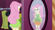 Fluttershy looking in the mirror EG