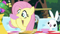 Fluttershy sipping some tea S8E18