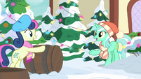 Lyra and Sweetie Drops at Hearth's Warming MLPBGE