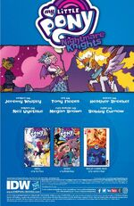 Nightmare Knights issue 5 credits page