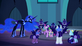 Nightmare Moon looks at Twilight and Spike S5E26.png