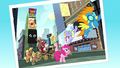 Photo of Pinkie and other ponies in Manehattan S5E11.png