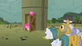 Pinkie Pie at the silo door S1E23.png