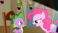 Pinkie Pie faces Spike S1E25.png