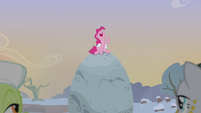 Pinkie Pie getting everyone's attention S5E20