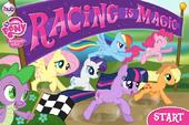 Racing is Magic title screen Hubworld