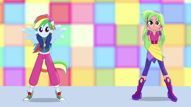 File:Rainbow Dash and Lemon Zest hip-hop dancing EGS1.png