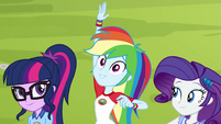 "Rainbow Dash calls out ""archery!"" EG4"