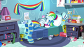 Rainbow Dash lounging in her bedroom SS12.png