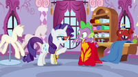 "Rarity ""a bit higher, darling"" S8E11"