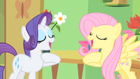 Rarity & Fluttershy cross my heart S1E20