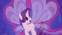 Rarity looking at her wings S4E16
