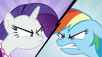 S08E17 Rarity i Rainbow kończą swoją przyjaźń