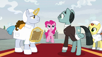 Sans Smirk tells Pinkie to follow him S9E14