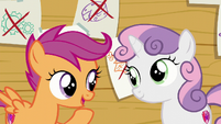 Scootaloo --Sweetie Belle and I can do the things we like-- S6E4