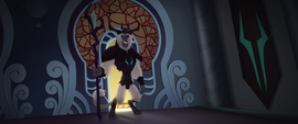 Storm King enters the Canterlot throne room MLPTM