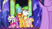 Sunset arrives with humans as ponies EGSB
