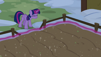 Twilight uses her magic on Yakyakistan crops S7E11