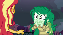 Wallflower Blush covering her mouth EGFF