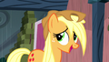 "Applejack ""wish they would've warned us about this rainstorm"" S5E6.png"