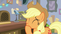 Applejack laughing with embarrassment BGES3