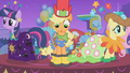 Applejack looks down at her galoshes S1E14.png
