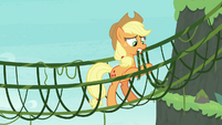Applejack making a bridge of vines S8E9