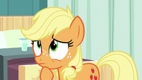 Applejack thinking to herself for a moment S6E23