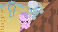Diamond Tiara and Silver Spoon watching S01E12