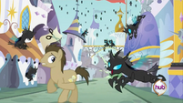 Dr. Hooves running from changelings S2E26
