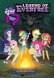Equestria Girls Legend of Everfree portada del libro
