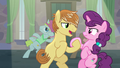 Feather Bangs holding Sugar Belle's hoof S7E8.png