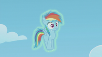 Filly Rainbow Dash still frozen S5E25