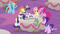 Mane Six, Starlight, and Spike after the coronation MLPCS6
