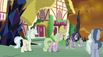 More Sombrafied ponies walking out of town S9E2