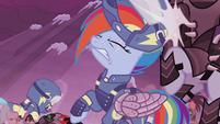 Rainbow Dash headbutts Crystal Pony S5E25