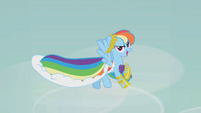 Rainbow Dash in gala dress S01E14
